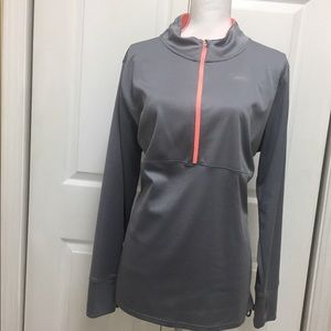 Avia | Grey Long Sleeve Half Zip Top | Size XXL